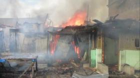 Puluhan Rumah Ludes Terbakar di Kota Medan