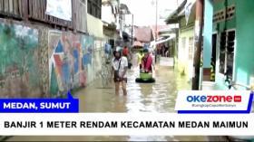 Banjir 1 Meter Rendam Kecamatan Medan Maimun