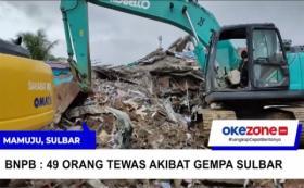 BNPB : 49 Orang Tewas Akibat Gempa di Sulawesi Barat