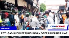 Razia Parkir Liar, Puluhan Motor Diamankan Petugas di Pasar Senen