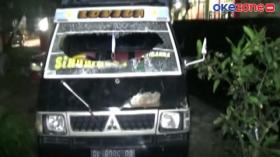Warga Rusak Mobil yang Membawa Babi di Serdang Begadai, Sumut