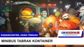 Tim SAR Evakuasi Korban Kecelakaan Kontainer Vs Minibus di Karanganyar