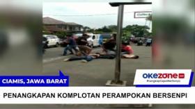 Dramatis! Polisi Tangkap Rampok Bersenpi di Ciamis