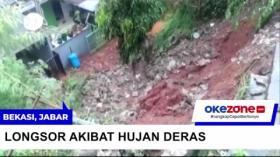 Hujan Deras Picu Longsor di Komplek Pesona Jatisari Bekasi