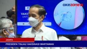 Presiden Tinjau Vaksinasi Covid-19 untuk Wartawan dan Oknum Polisi Tembak Mati 3 Orang