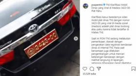 Pamer Mobil Berpelat Nomor Dinas TNI, Wanita Ini Dilaporkan ke Polisi