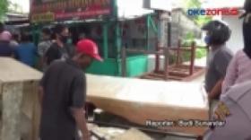 Eksekusi Warung Mi di Padang, Sumatera Barat Berlangsung Ricuh