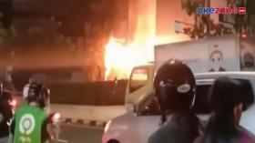 Video Rangkaian Kabel di Sawah Besar Jakarta Pusat Terbakar