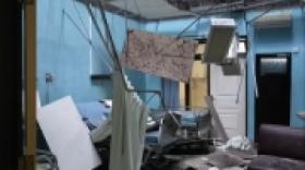 Atap RSUD Mardi Waluyo Roboh Akibat Gempa Malang