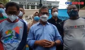 Demo di Gedung MK, KSPI Minta Omnibus Law UU Ciptaker Dibatalkan