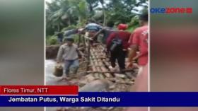 Diterjang Banjir Bandang, Jembatan di Flores Timur, NTT Terputus