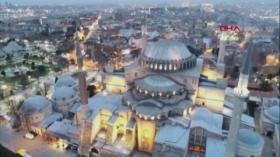 Azan Berkumandang di Hagia Sophia Tandai Dimulainya Ramadhan