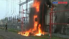 Trafo PLTG di Palembang Meledak dan Terbakar