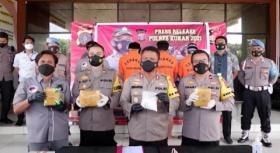 Polisi Gagalkan Penyelundupan Sabu Jaringan Internasional di Kutai Kartanegara