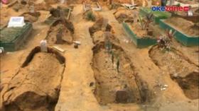 Puluhan Makam Ambles Akibat Guyuran Hujan Deras