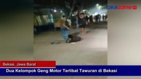 Dua Kelompok Geng Motor Terlibat Tawuran di Bekasi