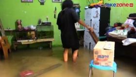 Puluhan Rumah Warga di Kebon Pala Jatinegara Terendam Banjir