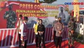 Kapolri dan Panglima TNI Tinjau Pos Penyekatan di Gerbang Tol Pejagan
