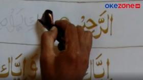 Intip Pembuatan Mushaf Alquran Batik Raksasa di Kota Solo