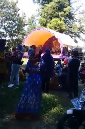 Polisi Bubarkan Pentas Barongan di Lokasi Wisata Tirto Kanjeng Blora Jateng
