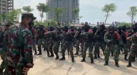 Unjuk Pertempuran Kota Prajurit Kodam Jaya di Meikarta