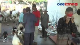 Razia Yustisi, Pengunjung Pasar Hewan Bangsri Abaikan Prokes