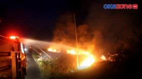 Lahan Dekat Komplek Perkantoran Ogan Komering Ulu Selatan Terbakar
