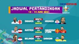 Jadwal Pertandingan Piala Eropa 2020 13-14 Juni 2021