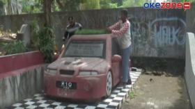 Unik, Nisan di Pemakaman Bantul Berbentuk Mobil Sedan
