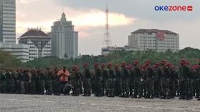 Apel di Monas, TNI-Polri dan Satpol PP Kerahkan Pantau Ketat PPKM Mikro di DKI Jakarta