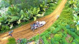 Begini Perjuangan Personel Kodim 0212 Tapanuli Selatan Buka Akses Jalan Dua Desa Terisolir