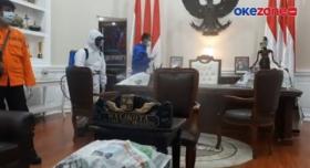 Usai Ditutup, Balai Kota Bogor Disemprot Disinfektan