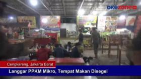 Langgar PPKM Mikro, Tempat Makan Disegel
