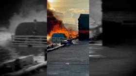Bawa Ratusan Tabung Gas Elpiji, KM Mega Surya 01 Terbakar, Dua ABK Terluka