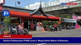 Selama Pelaksanaan PPKM Level 4, Warga Boleh Makan di Restoran