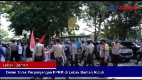 Demo Tolak Perpanjangan PPKM di Lebak, Banten Ricuh