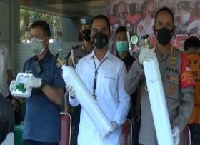 Polisi Ungkap Pemalsu Tabung Oksigen yang Dimodifikasi dari Tabung APAR