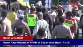 Unjuk Rasa Penolakan PPKM di Bogor, Jawa Barat Ricuh