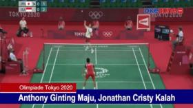 Anthony Ginting Maju, Jonathan Cristy Kalah