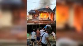 Akibat Puntung Rokok Jatuh ke Kasur, Rumah Mewah Ludes Terbakar