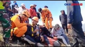 Terjatuh, Dua Pendaki Gunung Batur Terjebak di Pinggir Jurang