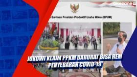 Jokowi Klaim PPKM Darurat Bisa Rem Penyebaran Covid-19