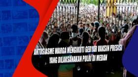 Antusiasme Warga Mengikuti Gebyar Vaksin Presisi yang Dilaksanakan Polri di Medan