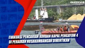 Evakuasi Pencarian Korban Kapal Pengayom 4 di Perairan Nusakambangan Dihentikan