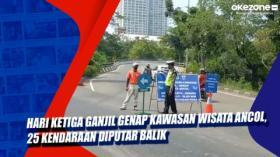 Hari Ketiga Ganjil Genap Kawasan Wisata Ancol, 25 Kendaraan Diputar Balik