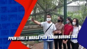 PPKM Level 3, Warga Pilih Taman Burung TMII
