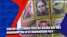 Jenazah Dua teroris Poso, Ali Kalora dan Jaka Ramadhan Tiba di RS Bhayangkara Palu