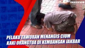 Pelaku Tawuran Menangis Cium Kaki Orangtua di Kembangan Jakbar