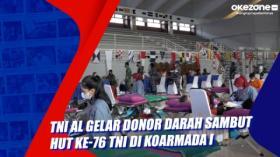 TNI AL Gelar Donor Darah Sambut HUT ke-76 TNI di Koarmada I