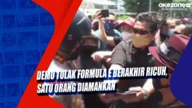 Demo Tolak Formula E Berakhir Ricuh, Satu Orang Diamankan